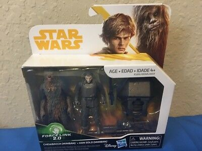 Star Wars Force Link 2018 Chewbacca And Han Solo Mimban