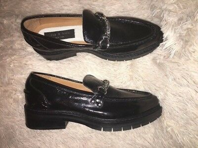 rag & bone 'Curtis' Black Leather Loafer Womens Size 41 /11