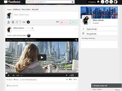 Online Community Social Network Website - Free Installation Hosting