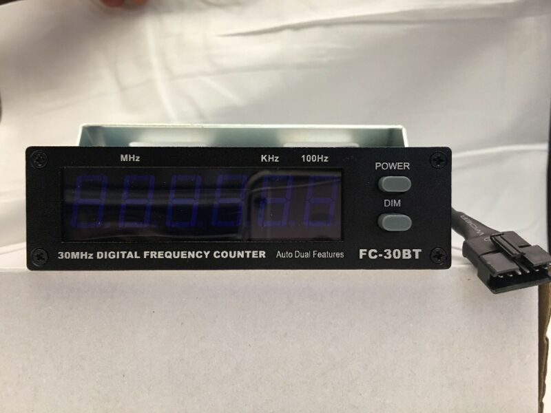New Blue Frequency Counter .5MHz-50MHz 12 volt for vehicle Blue lites