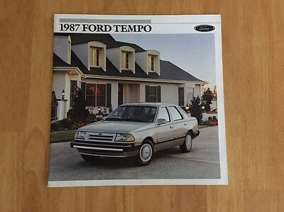 Vintage 1987 Ford Tempo Sales Brochure Original LX GL AWD Sport & Product Update