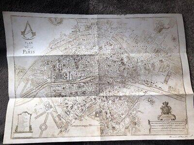Assassins Creed Paris Map A3 Size Official Ubisoft Promo PS3 PS4 Xbox...