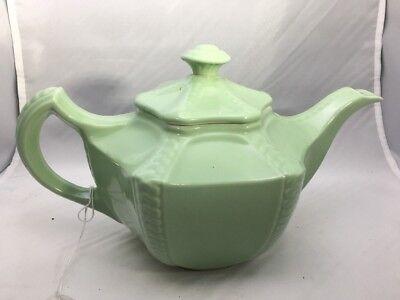 (Vintage HALL US China Rare Green Teapot & Lid Excellent Shape)