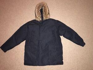 Woolrich Arctic Fur Trimmed Winter Parka Dark Blue Mint Condition Jacket XL XXL