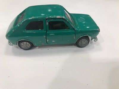 Mercury Fiat 127  Italy 1/43 Green Vtg European Market Toy Die Cast Car