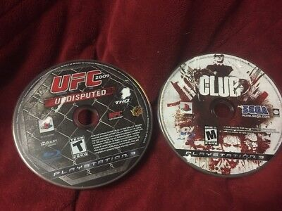 Used, Sony PlayStation 3 UFC Undisputed 2009 + The Club PS3 Disc Games Only. for sale  Shipping to Nigeria