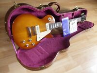 Gibson Les Paul, with Tan hard shaped case