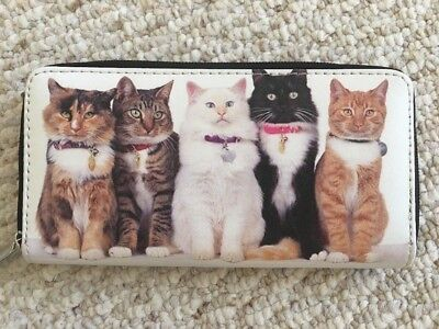 New  Cats Zipper Multi Compartment Ladies Wallet Clutch purse