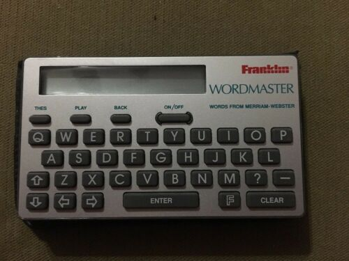 Franklin WordMaster WM-1015  Works Great 1991 Words From Merriam-Webster
