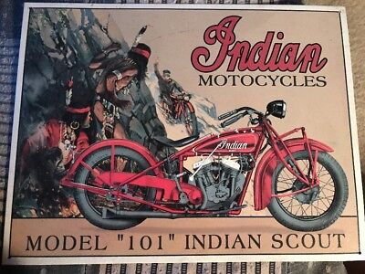 Indian Motorcycle Sign-man cave-12x16