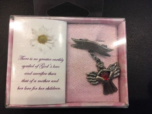 """Mother Mom Gift Pin in Box Angel of Motherhood """"Mothers are Angels in Training"""""""