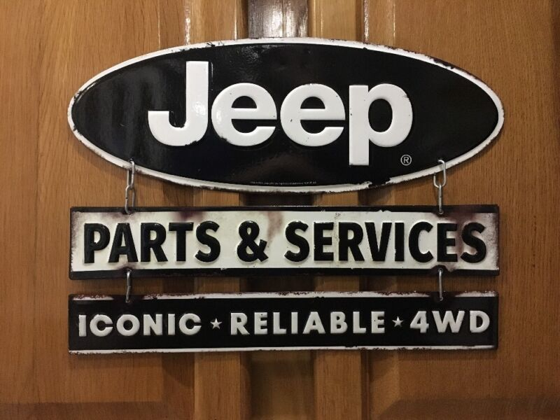 Jeep Sign Parts Service Garage Truck Car Vintage Style Gas Oil Bar Pub Lift Kit