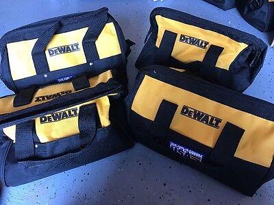 "X4 DEWALT 13"" 6 Pocket Heavy Duty Nylon Canvas Contractor Tool Bag N037466 NEW"
