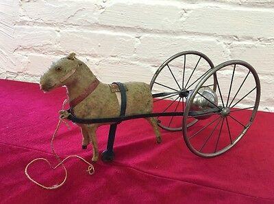 Folk Art Horse w/ Wheels Toy Kids Bell Pull
