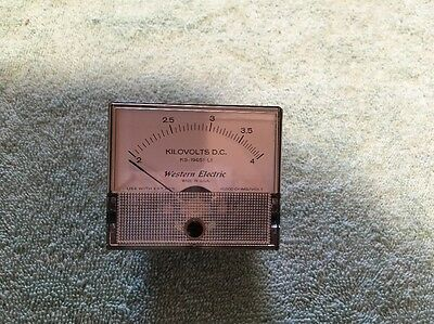 Western Electric Panel Meter Dc Kilovolts 2-4 Me 191