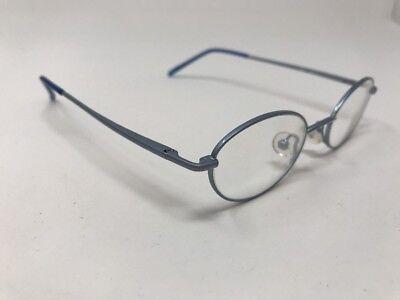 Eye Q Eyeglasses Frames TOBY METALLIC SKY BLUE 42–18-130 Small Frame Y882