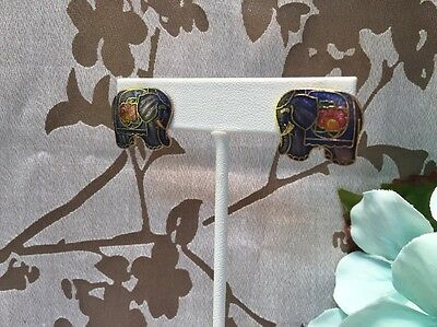 Lovely Vintage To Now Cloisonné Style Earring Lot-- Estate Jewelry Find