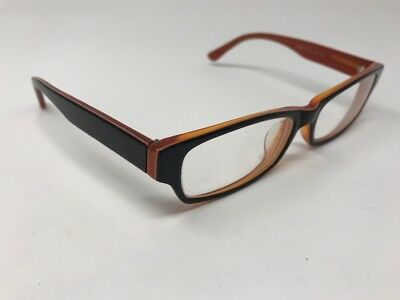 Eye Buy Direct Eyeglasses Dieppe 54-16-142 C3 Black Burnt Orange Frames =88