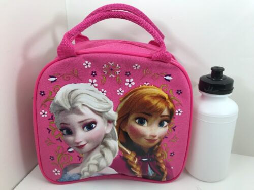 Disney Frozen Pink Lunch Box Carry Bag with Shoulder Strap a