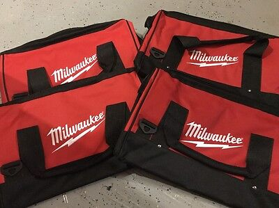 Brand New X4 LARGE Milwaukee Heavy Duty Tool Bags 17x11x10 (4)
