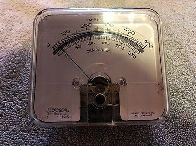 Vtg Panel Meter Temp Dc Thermocouple 0-500f 0-250c Me108