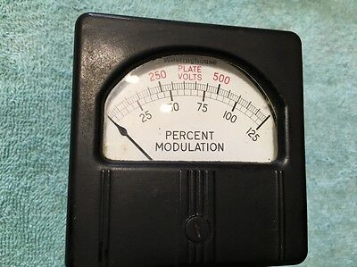 Westinghouse Panel Meter Transmitter Plate Voltage Modulation Me 206
