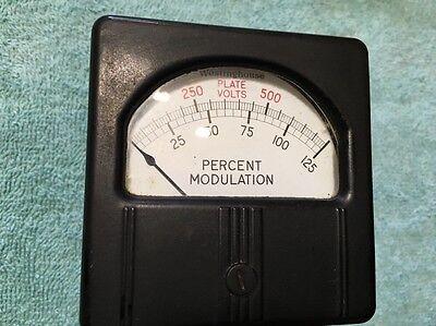 Westinghouse Panel Meter Transmitter Plate Voltage Modulation Me 206
