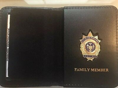 NYPD Captain  Family Member Wallet with  Mini Badge - 2017 NYPD PBA