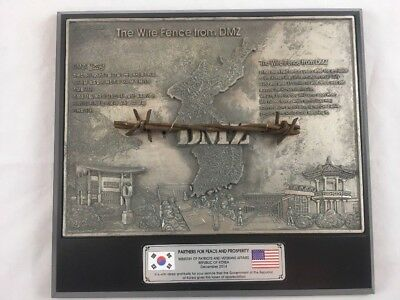 The Wire Fence From Dmz Metal Framed Plaque Special Edition Partners For Peace