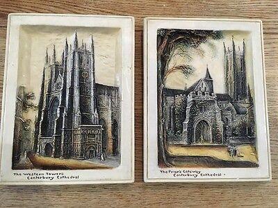 2 x Ivorex Osbourne Blackfriars Gateway and Western Towers Canterbury Cathedral
