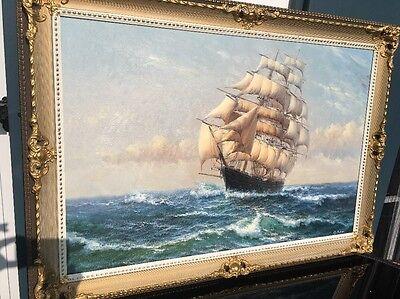"Ölbild ""Voll Im Wind"" Signiert Gustav Sotter"