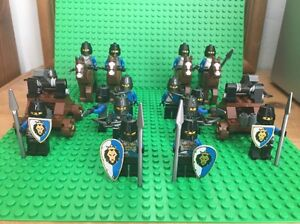 Lego Lion Knights Castle Army - New - Horses Catapults Archers Shields