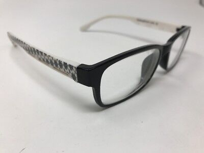 Eye Buy Direct Eyeglasses Frames Black White Yamsay 54-18-145 Pattern Q433