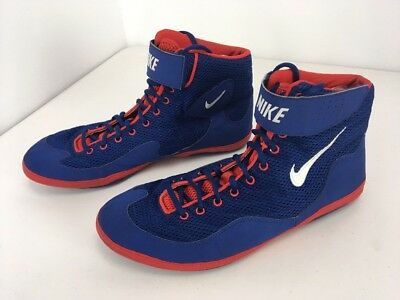 the best attitude 8de14 0f2c0 Rare SAMPLE RED WHITE BLUE Nike Inflict 3 Wrestling Shoes Sz 15 OLYMPICS  Rulon