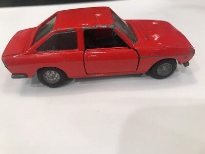 Mercury Fiat 124 Sport Coupe Italy 1/43 Red Vtg European Market Toy Die Cast Car