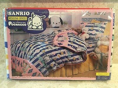 Vintage Sanrio Pochacco The Yorimichi Dog Twin Sheet Set NEW RARE