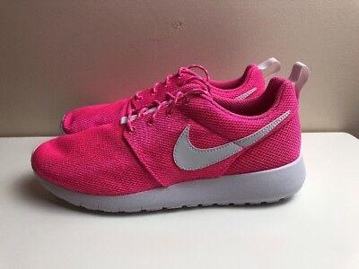 Nike Roshe One GS Womens Trainers UK 5.5 EUR 38.5 Pink White 599729 611