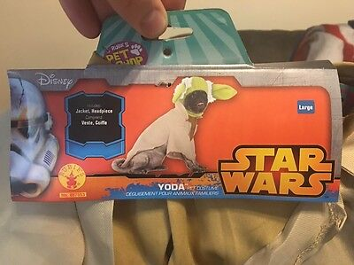 Rubies Costume Star Wars Collection - Yoda Pet Costume, Large (Yoda Pet Costume)