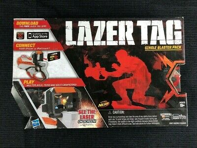 Nerf Lazer Tag Single Blaster Battle Pack Iphone or Ipod Laser Tag Gun F715K New