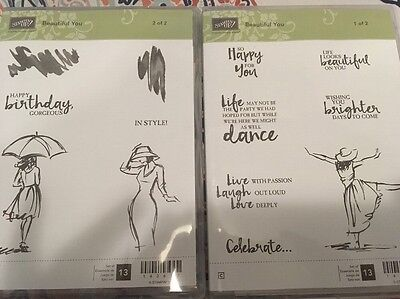 STAMPIN' UP! Beautiful You Clear-Mount Stamp Set NEW!!