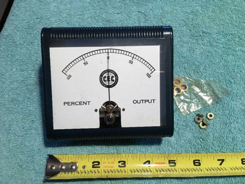 CEC Percent Output 100-0-100 Vintage Radio Panel Meter Me241
