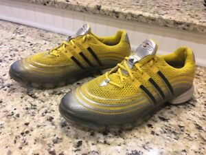 Adidas Men Golf Shoes-Sz 11 Yellow Black Silver 738173 Powerband Chassis Steeler