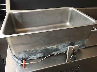 Commercial Restaurant Stainless Steel Built-In Single Pan Warmer w/ Drain Built In Commercial Heater