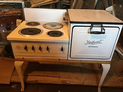 Old Vintage 1920 Porcelain Hotpoint Automatic Electric Stove & Oven
