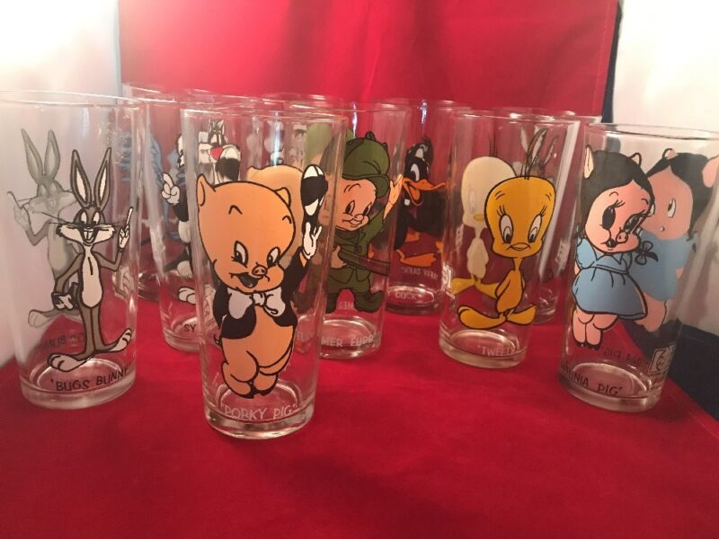 YOUR CHOICE ONE 1973 Warner Bros Looney Tunes Pepsi Collectors Glass & Federal