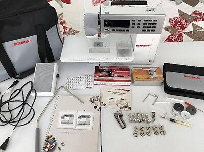 Bernina 550 QE Sewing Machine w/ BSR, Walking Foot, Straight from the shoulder Stitch Plate, More