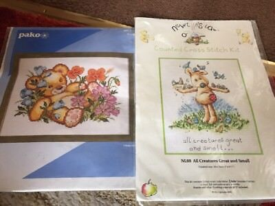 2x cross stitch chart ONLY. Bear And Newton's Law Creatures Great And Small