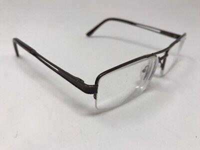Eye Buy Direct Eyeglasses Napili Bronze 55-17-142 C3 Half Rimless Flex 6275