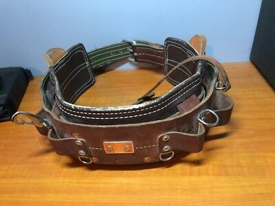 Bashlin Industries Linemans Climbing Safety Belt- D25 Excellent Condition
