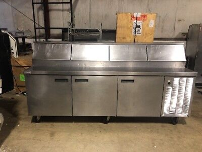 Delfield 96 Commercial Pizza Prep Unit Used Prep Table Cooler